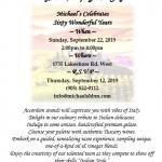 60th anniversary invitation 2